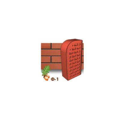 Клинкерный кирпич фасонный Ф1 Керамейя Рубин