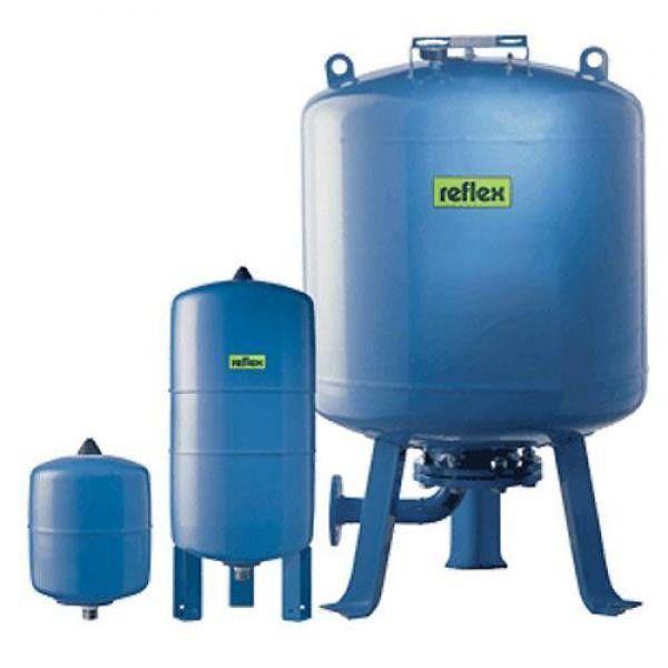 Гидроаккумулятор вертикальный Reflex Refix DE 10000L DE (синий) 10 бар (мембрана сменная)