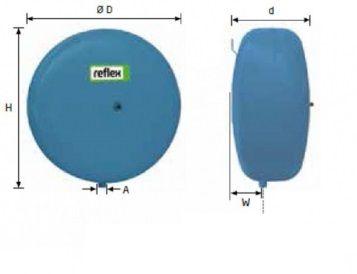 Гидроаккумулятор вертикальный Reflex Refix C-DE 7270920 18L C-DE (синий) 10 бар (мембрана не сменная)