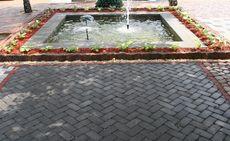 Тротуарная плитка Кирпич Антик 240х160 (серый) (9 см)