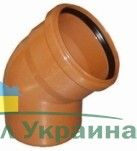 Interplast колено 110 / 15° для наружной канализации