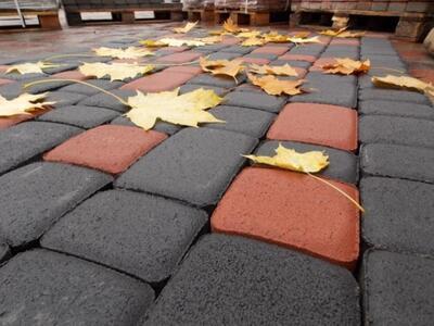 Тротуарная плитка Старый город (черный) (8 см) цена