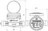 Счётчик водяной GROSS ETR-UA 15/110 (1.0 m3/h) без сгонов (для горячей воды)
