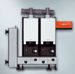 Газовый котел Viessmann Vitodens 200-W 26 кВт B2HA075 с Vitotronic 200 (погодозависимая теплогенерация), одноконтурный