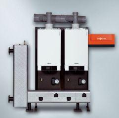 Газовый котел Viessmann Vitodens 200-W 35 кВт B2KA002 с Vitotronic 100 (постоянная температура подачи), Двухконтурный