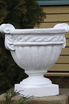 Бетонная ваза Греция (серый)