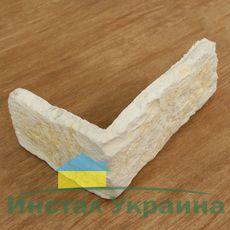Угловой элемент из искусственного камня Палермо бьянко