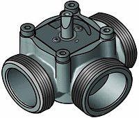"""3-ходовой смесительный клапан Meibes Elomix ЕМ3-40Е-18 Ду40 (Kvs 18 м. куб./час), подключение 1 1/2 """"НР"""