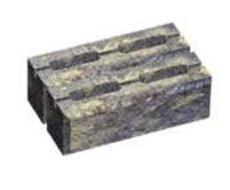 Блок малый декоративный для столба (двухсторонний скол) М200 300х200х100 (колормикс)