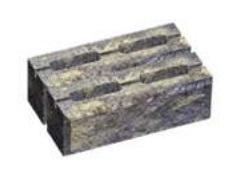 Блок малый декоративный для столба (двухсторонний скол) М200 300х200х100 (горчичный)