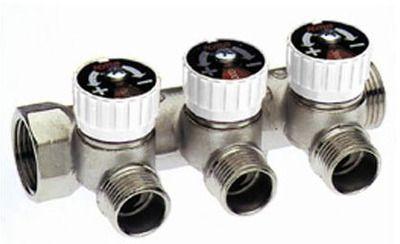 ICMA сборный коллектор с отсекающими кранами 228 1`x1/2` выходы 3 (с наконечником 24х1,5) цена
