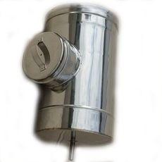 РЕВИЗИЯ из нержавеющей стали с термоизоляцией в оцинкованной стали 1,0мм ф350/420