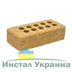 Кирпич Литос стандартный колотый тычковой с фаской желтый