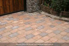 Тротуарная плитка Кирпич Антик 240х160 (персиковый полный прокрас) (9 см)