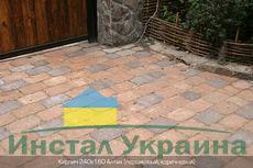 Тротуарная плитка Кирпич Антик 240х160 (коричневый полный прокрас) (9 см)