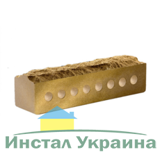 Кирпич Литос узкий скала желтый