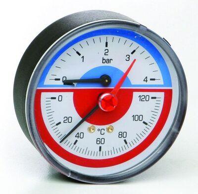 ICMA Термоманометр 259 1/2 R 6 бар фронтальный цена