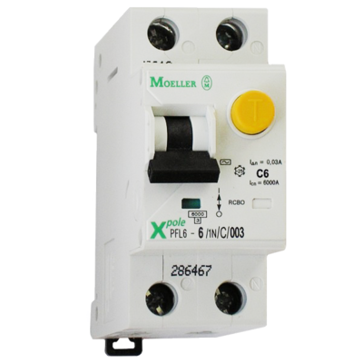 Eaton Дифференциальный автоматический выключатель PFL6-32/1N/C/0,03 (286470) цена