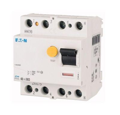 Eaton Дифференциальный выключатель напряжения PF4-63/4/0,3 (293178) цены