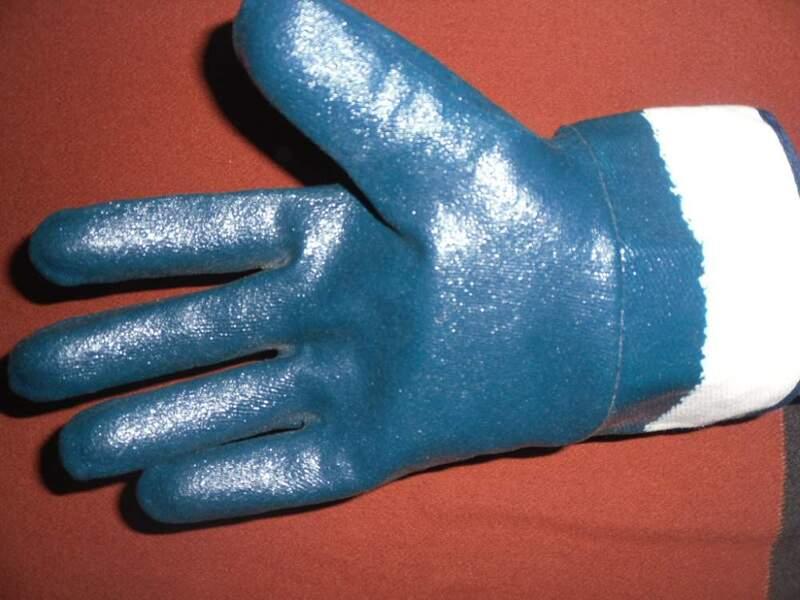 Рукавицы маслостойкие синие