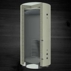 Теплоаккумулирующая емкость KRONAS с нижним спиральным теплообменником 1500 (с теплоизоляцией)