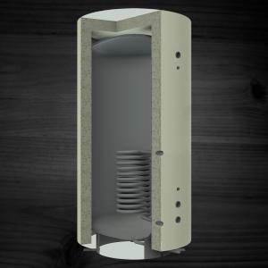Теплоаккумулирующая емкость KRONAS с нижним спиральным теплообменником 2000 (с теплоизоляцией)