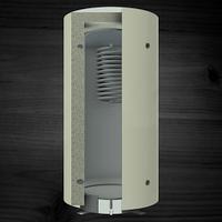 Теплоаккумулирующая емкость KRONAS с верхним спиральным теплообменником 3000 (с теплоизоляцией)