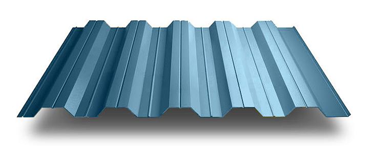 Профнастил ПС-57 стеновой 0,45 х 1025/960 мм. Алюмоцинк Arselor Корея