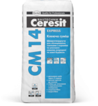 купить Ceresit СМ 14 Быстротвердеющая клеящая смесь Express (25 кг.)