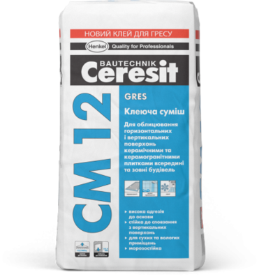 Ceresit CM 12 Клеящая смесь для керамогранита Gres (25 кг.) цена