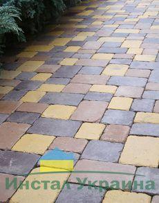 Тротуарная плитка Плац Антик (горчичный) (6 см)