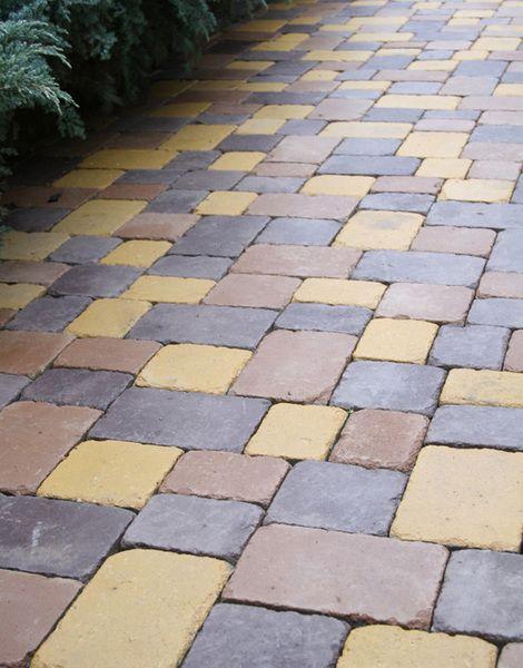 Тротуарная плитка Плац Антик (бордовый) (6 см)