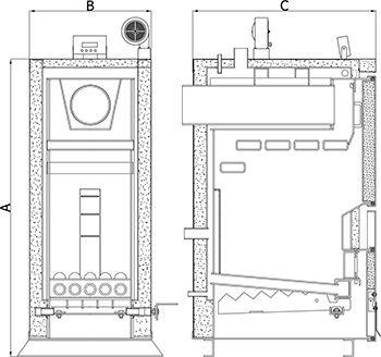 Твердотопливный котел Heiztechnik Holz Plus 13