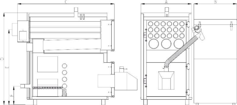 Твердотопливный пеллетный котел Heiztechnik MAXPell Duo 630