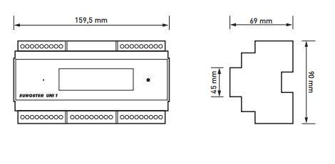 Euroster UNI 1 Погодозависим.термоконтроллер управл.котлом, расширенные ф-ции ГВС, система Антистоп, 5 датчиков темп.
