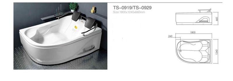Акриловая ванна Appollo TS-0919 1800 x 1240 x 660 правосторонняя