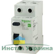 """Schneider electric Дифференциальный выключатель напряжения EZ9, 2Р; 0,01А; 25А; ТИП """"АС"""" (EZ9R14225)"""