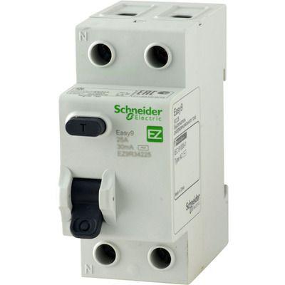 """Schneider electric Дифференциальный выключатель напряжения EZ9, 2Р; 0,01А; 25А; ТИП """"АС"""" (EZ9R14225) цена"""