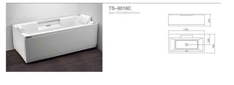 Акриловая ванна Appollo TS-9016С 1700 x 900 x 570