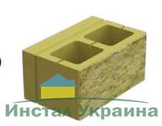 Блок декоративный (односторонний скол) М-200 400х235х200 (серый)