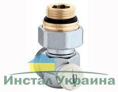 Caleffi Кран нижнего подключения радиатора стальной 3/4` угловой 50%