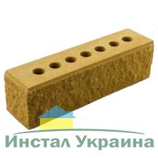 Кирпич Литос узкий колотый тычковой с фаской желтый