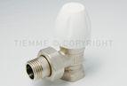 """купить Tiemme угловой ручной вентиль MAXIMA ВН 1/2"""" хромированный для стальной трубы (3320001)"""