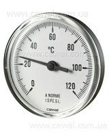 Cewal Термометр из метал. корп. 63 0/120С 5см фронтальный