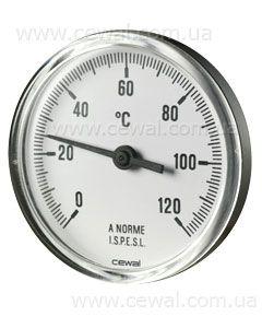 Cewal Термометр из метал. корп. 63 0/120С 5см фронтальный цена