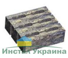 Блок малый декоративный для столба (двухсторонний скол) М200 300х300х100 (бордовый)