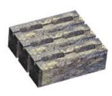 Блок малый декоративный для столба (двухсторонний скол) М200 300х300х100 (серый) цены