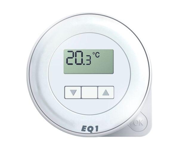 Euroster Q1 Терморег. комнатный 5А 5-45°C, ЖК экран, внутрен. датчиком темп. воздуха, на батарейках