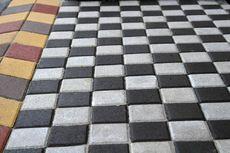 Тротуарная плитка Квадрат Большой 200х200 (черный) (6 см)