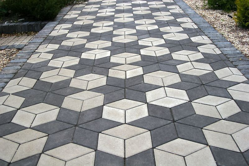 Тротуарная плитка Ромб 150х150 (белый) (6 см)